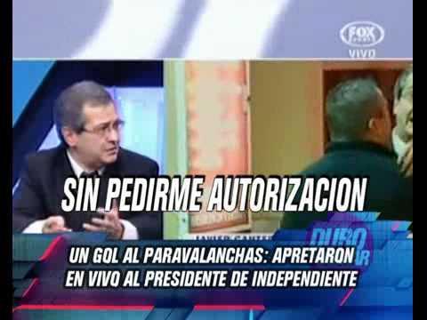 DURO DE DOMAR - APRETARON EN VIVO AL PRESIDENTE DE INDEPENDIENTE 14-06-12
