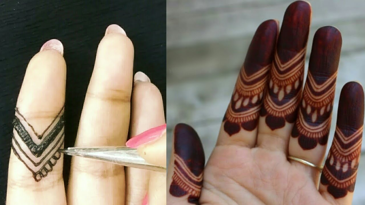Simple Mehndi Designs For Finger Tips