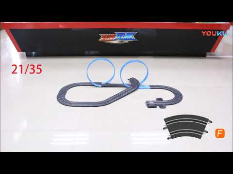 1/64 Scale Slot Car Racing Set, Top-Racer AGM MR-03 Slot Car Raceway Assembling video - 동영상