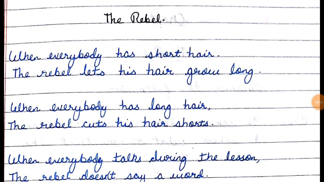 The rebel poem with QUESTION ANSWERS full explaination ncert English class  7th