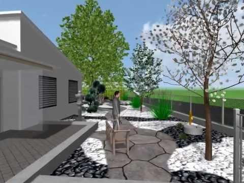 Progettazione giardino zen youtube for Foto giardini moderni
