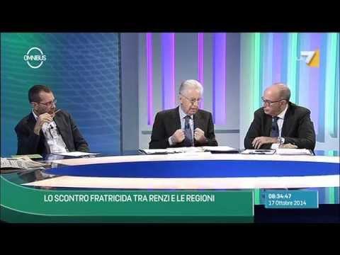 Omnibus - Lo scontro fratricida tra Renzi e le regioni (Puntata 17/10/2014)