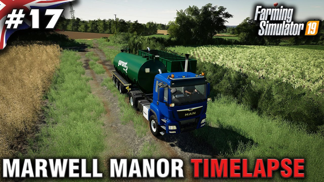 FS19 Marwell Manor Timelapse #17 Digestate Spreading