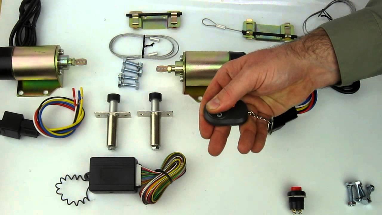 45 lb shaved handle door popper kit with 2 remotes [ 1280 x 720 Pixel ]