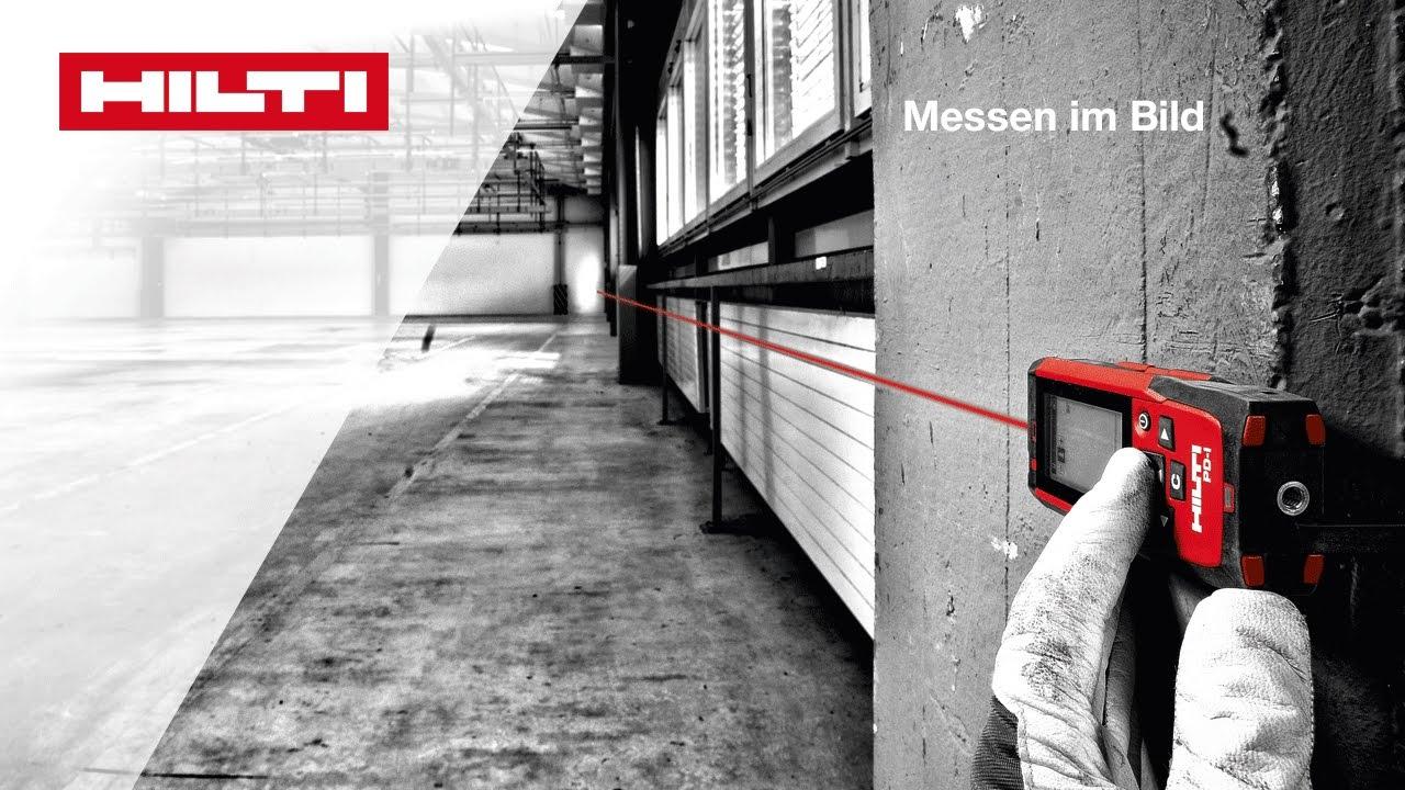Anleitung zum messen im bild laser distanzmessgerät hilti pd c