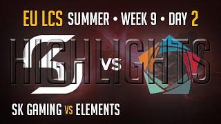 SK Gaming vs Elements HIGHLIGHTS | Week 9 Day 2 EU LCS Summer Split 2015 S5 | SK vs EL W9D2
