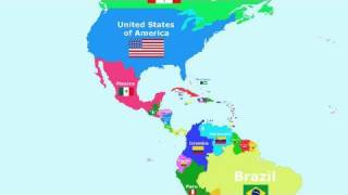 The Countries of the World Song - The Americas