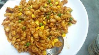 Desi Chicken Pasta (Macaroni) Recipe