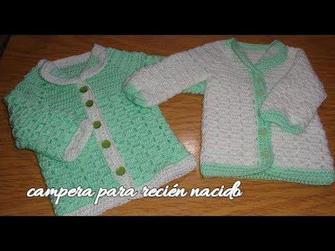 Ajuar para beb s al crochet campera saco o chambrita para - Adornos para bebe recien nacido ...