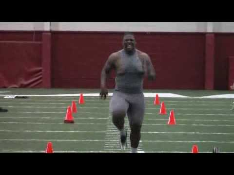 NFL Pro Day in Tuscaloosa - Alabama 40-yard dashes
