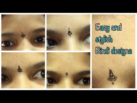 Bindi designs using eyeliner