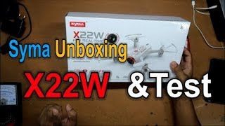 Syma X22W unboxing and testing