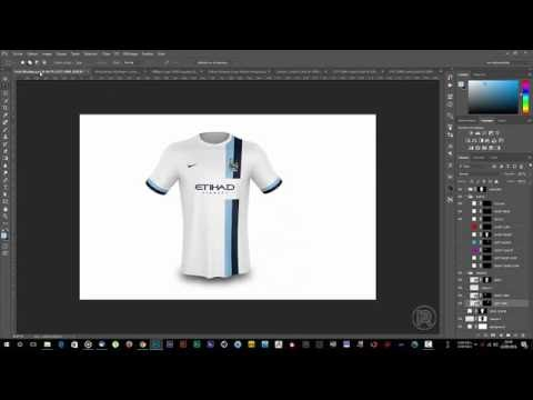 How to use the Free Football T-shirt Mockup // Tutorial (Speedart)