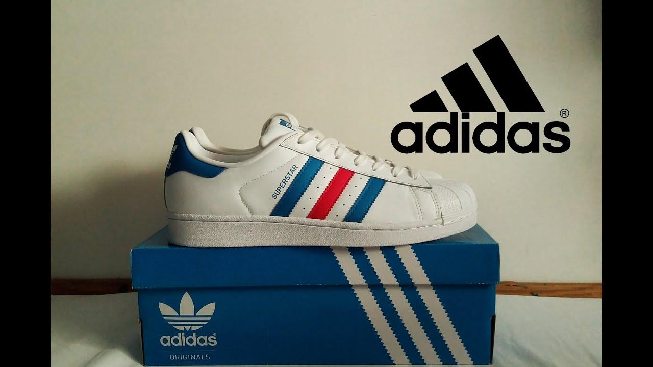 Medalla Oblongo gene  🇫🇷🇫🇷🇫🇷Adidas Superstar tricolor | Adidas Superstar three colors | Adidas  Superstar Francia 🇫🇷🇫🇷🇫🇷 - YouTube