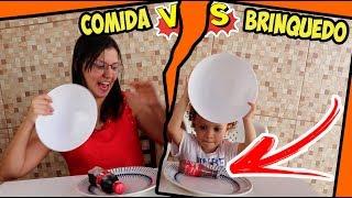 COMIDA DE VERDADE X COMIDA DE BRINQUEDO