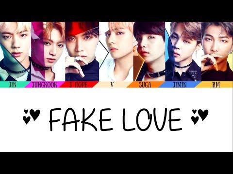 50KSpecial BTS (防弾少年団)(방탄소년단) - FAKE LOVE (Korean And Jap. Ver)(Color Coded Lyrics/Han/Rom/Kan/Eng)