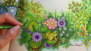 SECRET GARDEN | Prince Frog's Magical Pond | Coloring With Colored Pencils