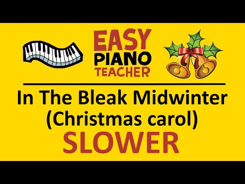 🎹 EASY piano: In The Bleak Midwinter keyboard tutorial (Christmas carol) SLOW by #EPT thumbnail