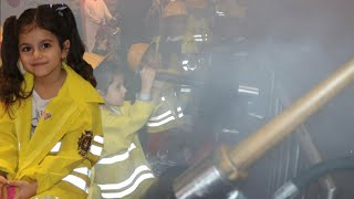 البيت يحترق💥 | سوار طفت الحريق💦 | KidZania | the house is on fire | Firefighter and Fire Truck