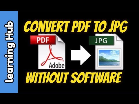 How to Convert PDF to JPG without Software for FREE | Convert PDF to Image File Online