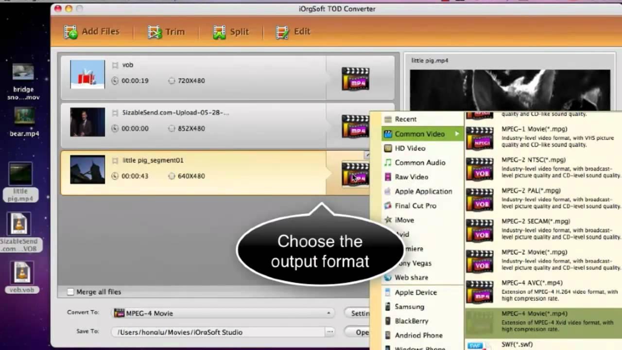 Best TOD converter Mac, Fast convert jvc tod video files to  mov/mp4/wmv/avi/flv/mpg/dv etc on Mac