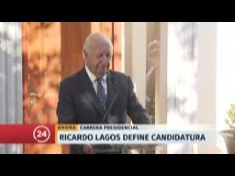 Ricardo Lagos renuncia a su candidatura presidencial