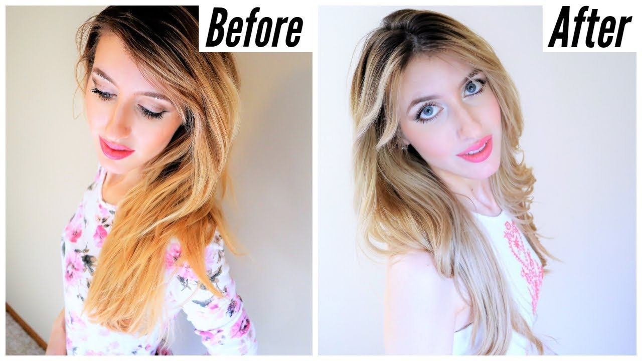 How To Tone Brassy Blonde Hair At Home Without Ammonia