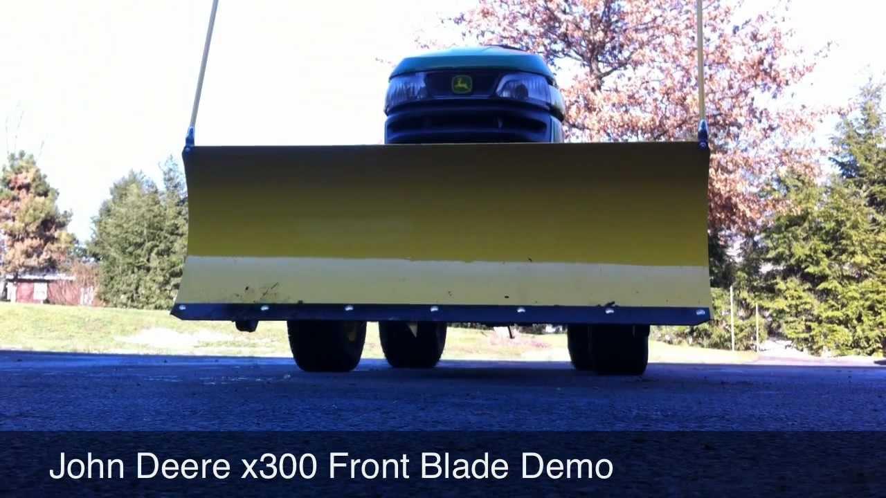 John Deere X300 Snow Blade : John deere snow blade demo hd doovi