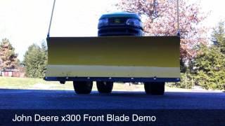 John Deere X300 Snow Blade Demo (HD)
