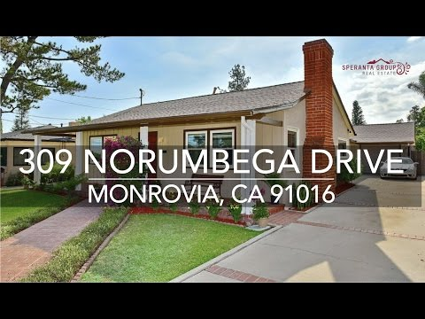 The Speranta Group Presents: 309 Norumbega Drive, Monrovia