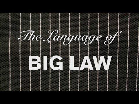 Big Law Jargon: A Primer