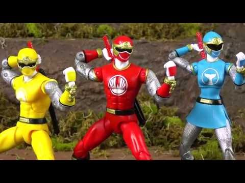 Power Rangers NEW Figures 6.5 inch! Ninja Storm & MMPR (Build a Megazord)