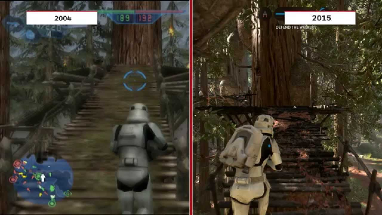 Free Fall Color Wallpaper Star Wars Battlefront 2004 Vs 2015 Graphics Comparison