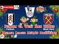 Fulham vs. West Ham United | Premier League 2018-19 | Predictions FIFA 19