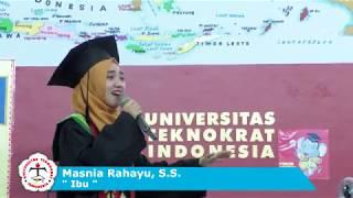 "Persembahan Lagu ""IBU"" oleh Masnia Rahayu, S.S. - YUDISIUM II UNIVERSITAS TEKNOKRAT INDONESIA"