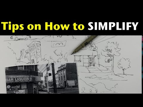 Urban Sketching Series Pt 5 | Tips on how to simplify what you see