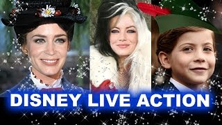 Mary Poppins Emily Blunt, Cruella Emma Stone - Upcoming Disney Live Action Movies