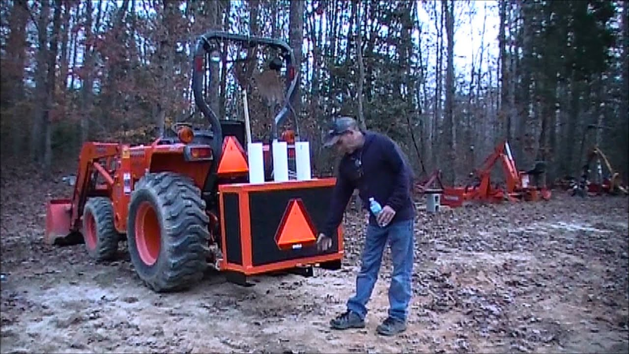 Building a ballast box for the kubota tractor part 3 final results