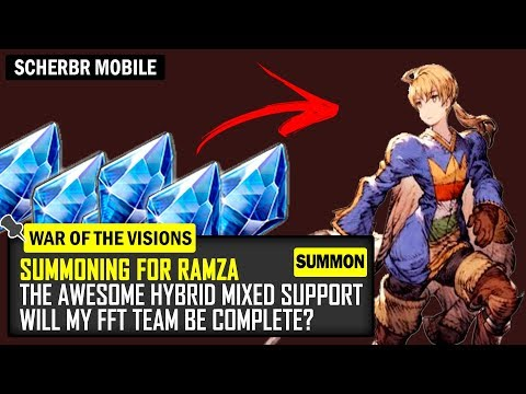 Summoning Till I Get Ramza! FFT Collab Banner - War Of The Visions FFBE Final Fantasy