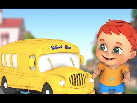 The Wheels on the Bus - Nursery rhymes and Vehicle Sounds | Parenting baby songs from Jugnu Kids