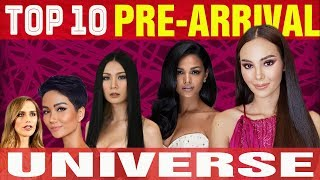 TOP 10 PRE-ARRIVAL CANDIDATES OF MISS UNIVERSE 2018 (NOVEMBER)
