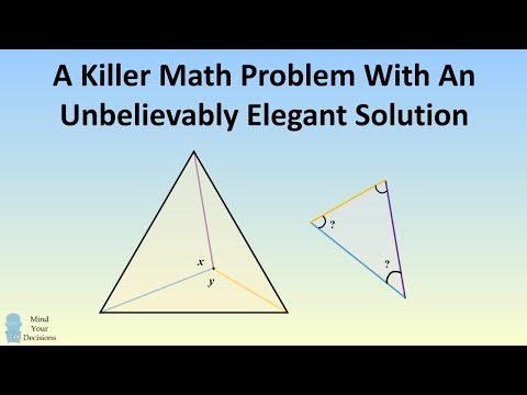 Killer Math Problem With An Unbelievably Elegant Solution