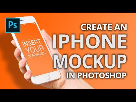 How To Insert Pictures On An IPhone Screen With Photoshop CC 2019