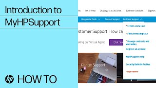 Introduction to MyHPSupport | HP