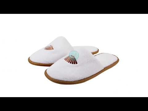 Wholesale Custom Logo Coral Velour Disposable Hotel Slipper