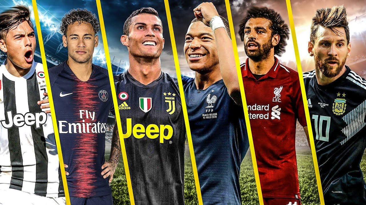Download Messi vs Ronaldo vs Salah vs Mbappe vs Neymar vs Dybala ...- Despacito & Faded  best Goals 2018
