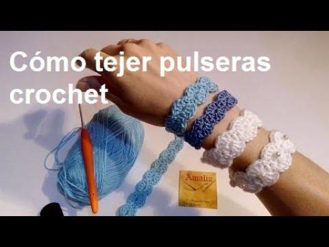 279a6449c9db Cómo tejer pulsera crochet
