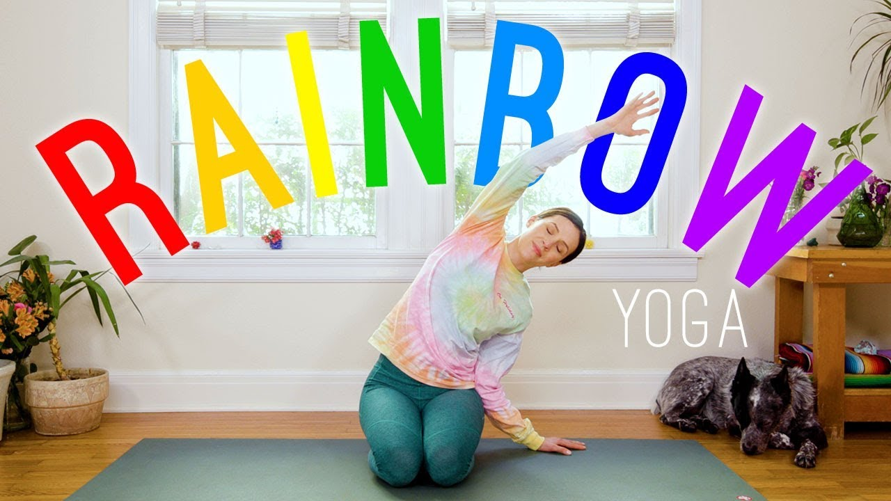 Rainbow Yoga 🌈 Yoga For All Ages! 🌈 Yoga With Adriene