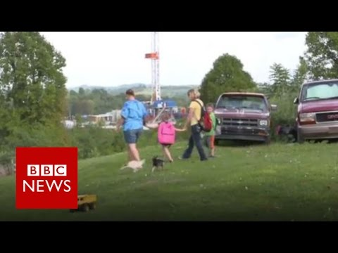What is it like living near fracking? BBC News