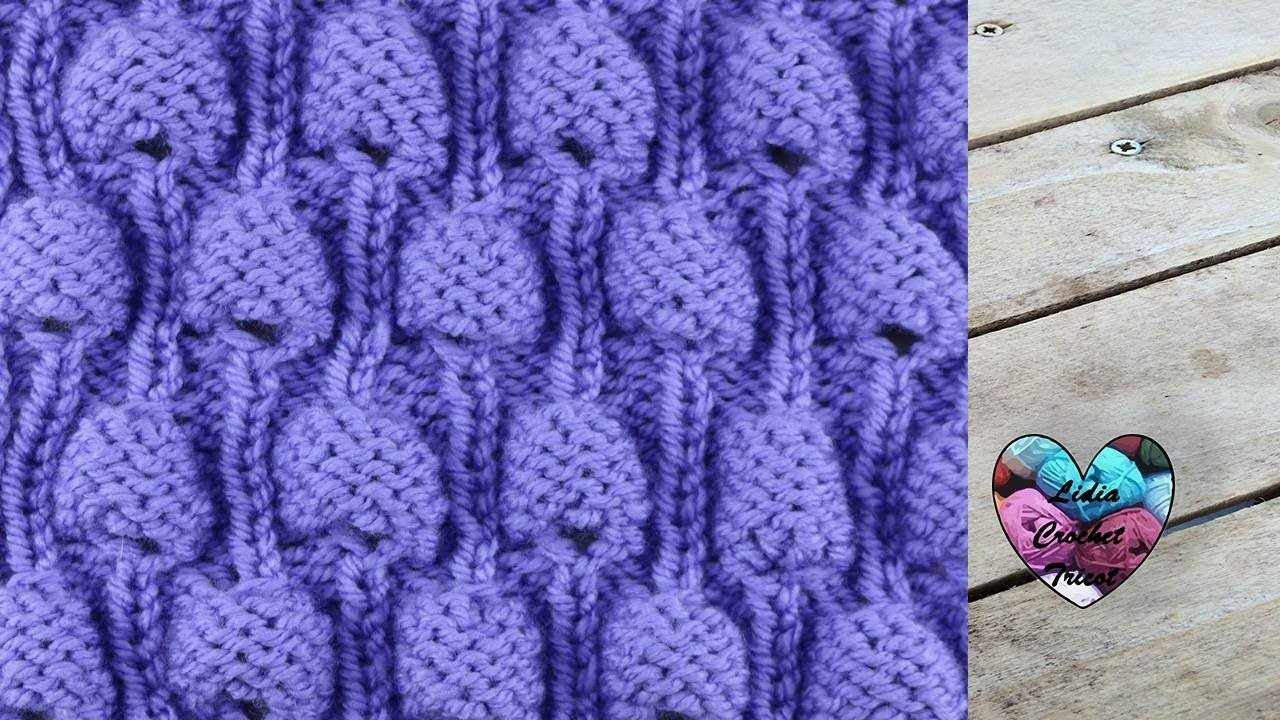 Point bulles tricot super tendance youtube - Point de ble au tricot ...